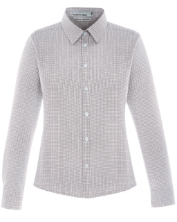 Ladies Paramount Wrinkle-Resistant Cotton Blend Twill Checkered Shirt