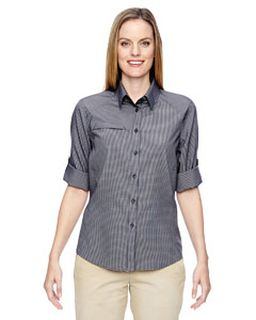 Ladies Excursion F.B.C. Textured Performance Shirt-Ash City - North End