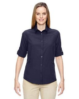 Ladies Excursion Concourse Performance Shirt-Ash City - North End
