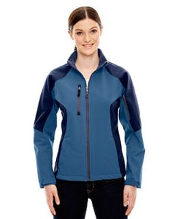 Ladies Compass Colorblock Three-Layer Fleece Bonded Soft Shell Jacket-Ash City - North End