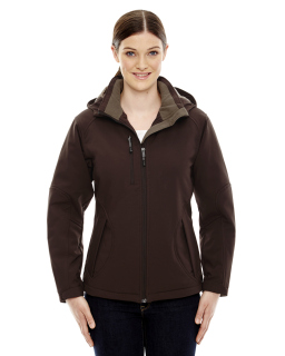 Ladies Glacier Insulated Three-Layer Fleece Bonded Soft Shell Jacket With Detachable Hood