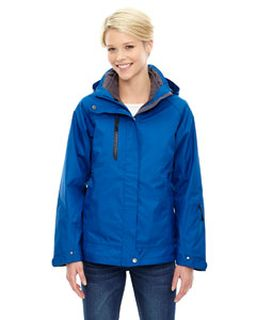 Ladies Caprice 3-In-1 Jacket With Soft Shell Liner-Ash City - North End