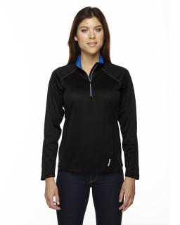 Ladies Radar Quarter-Zip Performance Long-Sleeve Top