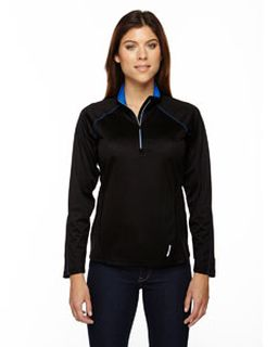 Ladies Radar Quarter-Zip Performance Long-Sleeve Top-Ash City - North End