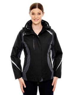 Ladies Height 3-In-1 Jacket With Insulated Liner-Ash City - North End