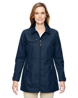 Ladies Excursion Ambassador Lightweight Jacket With Fold Down Collar-Ash City - North End