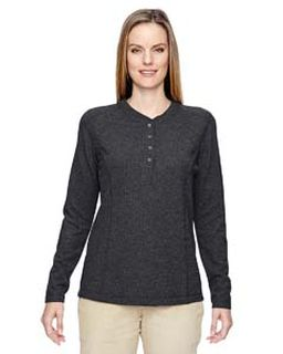 Ladies Excursion Nomad Performance Waffle Henley-Ash City - North End