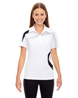 Ladies Impact Performance Polyester Pique Colorblock Polo-Ash City - North End