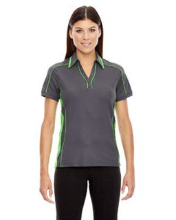 Ladies Sonic Performance Polyester Pique Polo-Ash City - North End