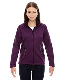 Ladies Splice Three-Layer Light Bonded Soft Shell Jacket With Laser Welding-Ash City - North End