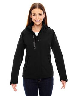 Ladies Axis Soft Shell Jacket With Print Graphic Accents-Ash City - North End
