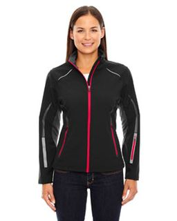 Ladies Pursuit Three-Layer Light Bonded Hybrid Soft Shell Jacket With Laser Perforation