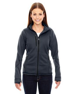 Ladies Pulse Textured Bonded Fleece Jacket With Print-
