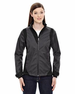 Ladies Commute Three-Layer Light Bonded Two-Tone Soft Shell Jacket With Heat Reflect Technology-Ash City - North End