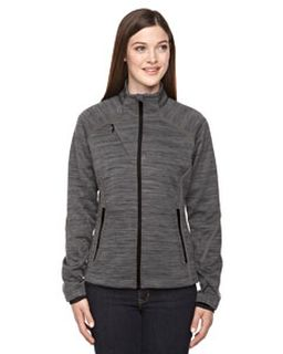 Ladies Flux Melange Bonded Fleece Jacket-Ash City - North End