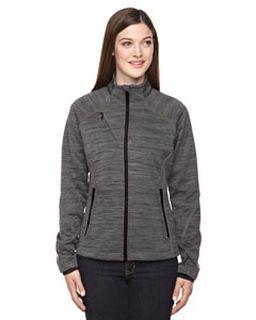 Ladies Flux Melange Bonded Fleece Jacket
