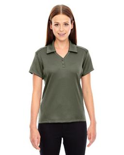 Ladies Exhilarate Coffee Charcoal Performance Polo With Back Pocket-