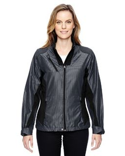 Ladies Aero Interactive Two-Tone Lightweight Jacket-Ash City - North End