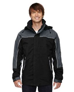 Adult 3-In-1 Seam-Sealed Mid-Length Jacket With Piping-Ash City - North End