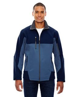Mens Compass Colorblock Three-Layer Fleece Bonded Soft Shell Jacket-Ash City - North End