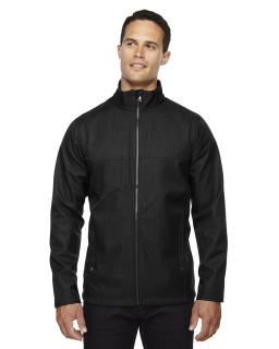 Mens City Textured Three-Layer Fleece Bonded Soft Shell Jacket