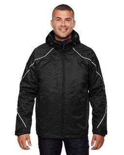 Mens Angle 3-In-1 Jacket With Bonded Fleece Liner-Ash City - North End