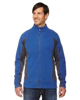 Mens Generate Textured Fleece Jacket-Ash City - North End