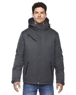 Mens Rivet Textured Twill Insulated Jacket