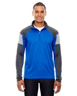 Mens Quick Performance Interlock Quarter-Zip-Ash City - North End