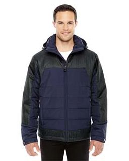 Mens Excursion Meridian Insulated Jacket With Melange Print-Ash City - North End