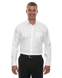 Mens Wrinkle-Free Two-Ply 80s Cotton Taped Stripe Jacquard Shirt
