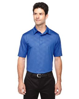 Mens Maze Performance Stretch Embossed Print Polo-Ash City - North End
