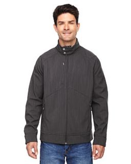 Mens Skyscape Three-Layer Textured Two-Tone Soft Shell Jacket-Ash City - North End