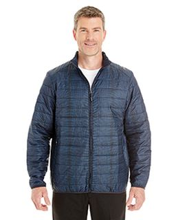 Mens Portal Interactive Printed Packable Puffer Jacket-Ash City - North End