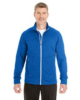 Mens Amplify Melange Fleece Jacket-Ash City - North End