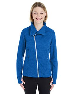 Ladies Amplify Melange Fleece Jacket-Ash City - North End