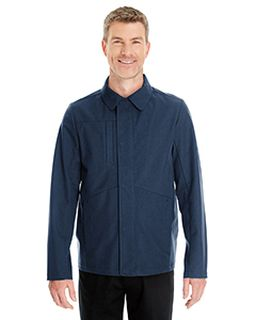 Mens Edge Soft Shell Jacket With Fold-Down Collar-Ash City - North End