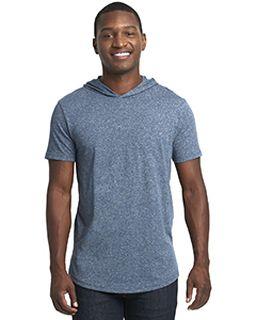 Unisex Mock Twist Short Sleeve Hoody T-Shirt-Next Level