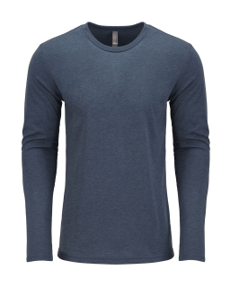 Mens Triblend Long-Sleeve Crew-Next Level