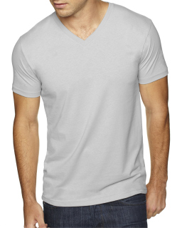 Mens Sueded V-Neck T-Shirt-Next Level
