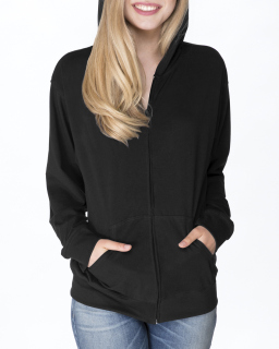 Adult Sueded Full-Zip Hoody-Next Level