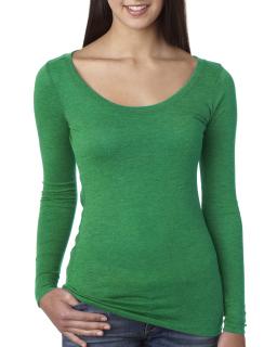 Ladies Triblend Long-Sleeve Scoop-