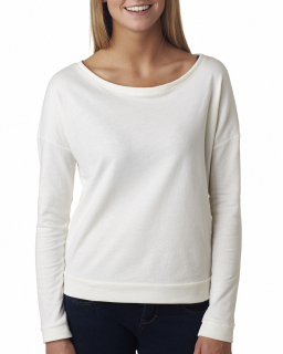 Ladies French Terry Long-Sleeve Scoop-