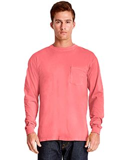 Adult Inspired Dye Long-Sleeve Crew With Pocket-Next Level