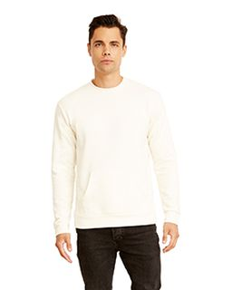 Unisex Long Sleeve Crew With Pocket-
