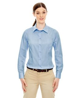 Ladies Yarn-Dyed Wrinkle-Resistant Dobby Shirt-