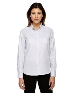 Echelon ladies Wrinkle Resistant Cotton Blend Houndstooth Taped Shirt-