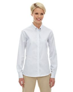 Ladies Establish Wrinkle-Resistant Cotton Blend Dobby Stripe Shirt-
