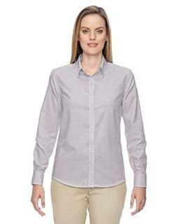 Ladies Paramount Wrinkle-Resistant Cotton Blend Twill Checkered Shirt-