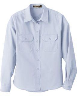 Ladies Soil Release Long Sleeve Broadcloth Shirt-